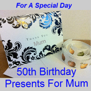 It can be hard looking for 50th birthday presents for mum.