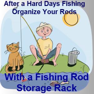 Fishing Rod Storage Rack